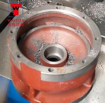 潜水泵导流壳双联多轴钻孔攻丝机
