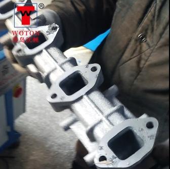 农机排气管多轴钻孔加工