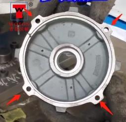电机端盖四方向侧孔八工位钻孔攻丝专机