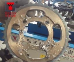 摩托车链轮多轴钻孔加工