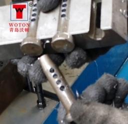 销轴二工位双联数控滑台式钻孔专机(一次6件)