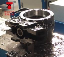 汽车平衡轴壳四工位数控滑台式多轴钻倒攻吹专机